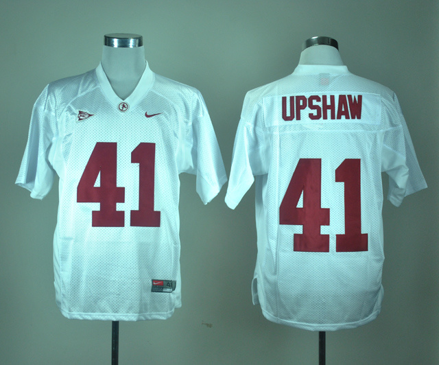 NCAA Alabama Crimson Tide 41 Courtney Upshaw White Nike College Football Jersey