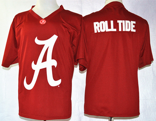 NCAA Alabama Crimson Tide Roll Tide Crimson Nike Team Pride Fashion Football Jersey