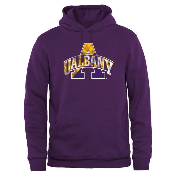 NCAA Albany Great Danes Big & Tall Classic Primary Pullover Hoodie - Purple