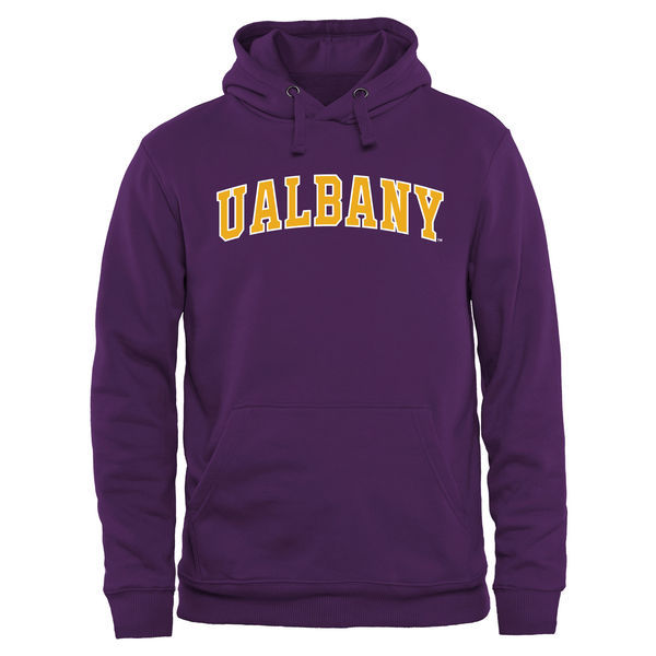 NCAA Albany Great Danes Everyday Pullover Hoodie - Purple