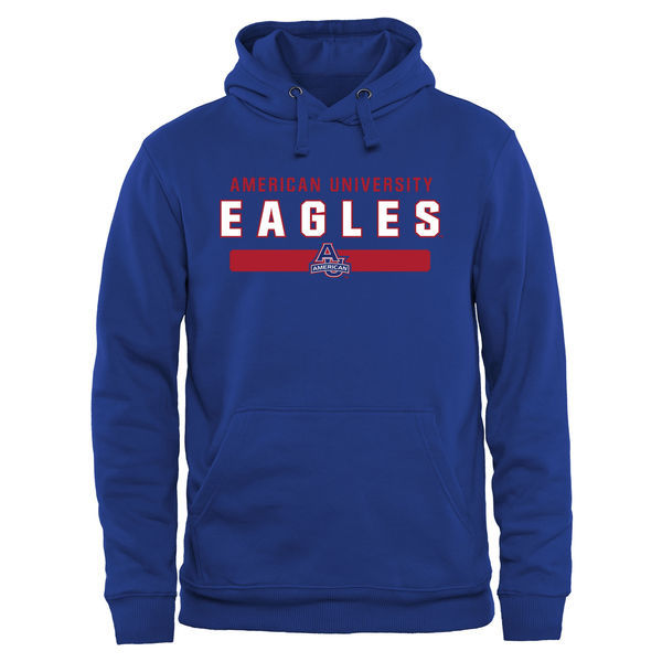 NCAA American Eagles Team Strong Pullover Hoodie - Royal Blue