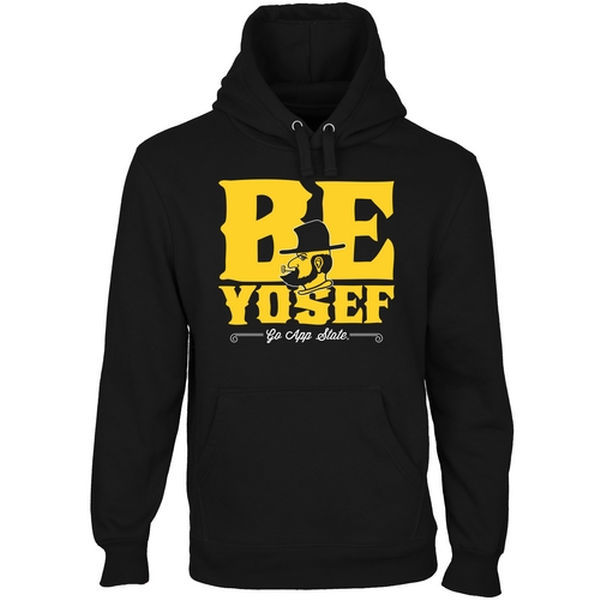 NCAA Appalachian State Mountaineers Be Yosef Pullover Hoodie - Black
