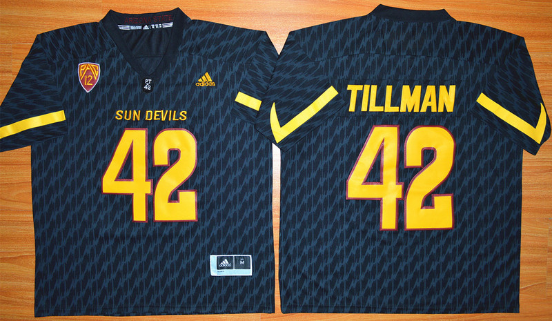 NCAA Arizona State Sun Devils 42 Pat Tillman Black Football Jersey