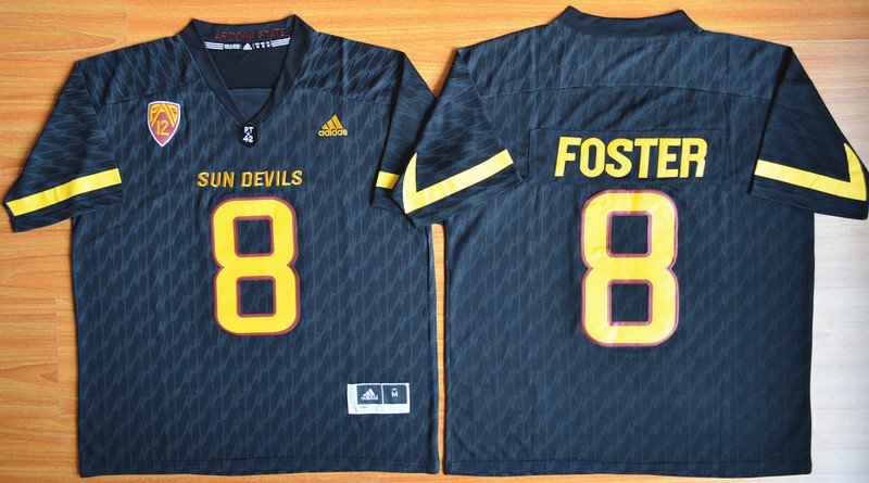 NCAA Arizona State Sun Devils 8 D.J. Foster Black Football Jersey