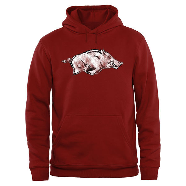 NCAA Arkansas Razorbacks Big & Tall Classic Primary Pullover Hoodie - Cardinal