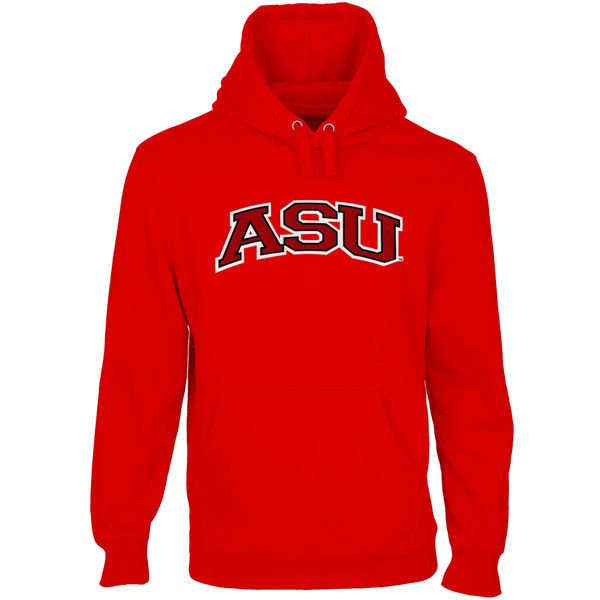 NCAA Arkansas State Red Wolves Arch Name Pullover Hoodie - Scarlet