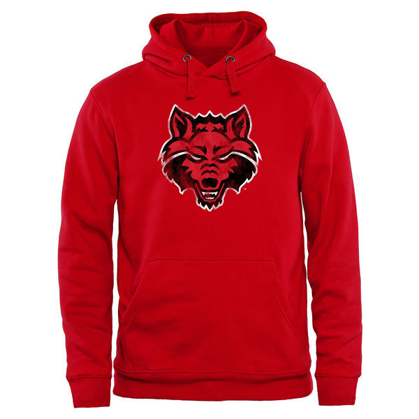 NCAA Arkansas State Red Wolves Classic Primary Pullover Hoodie - red