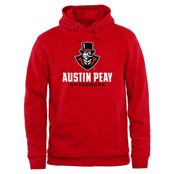 NCAA Austin Peay State Governors Team Strong Pullover Hoodie - Red
