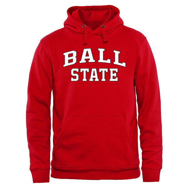 NCAA Ball State Cardinals Everyday Pullover Hoodie - Red