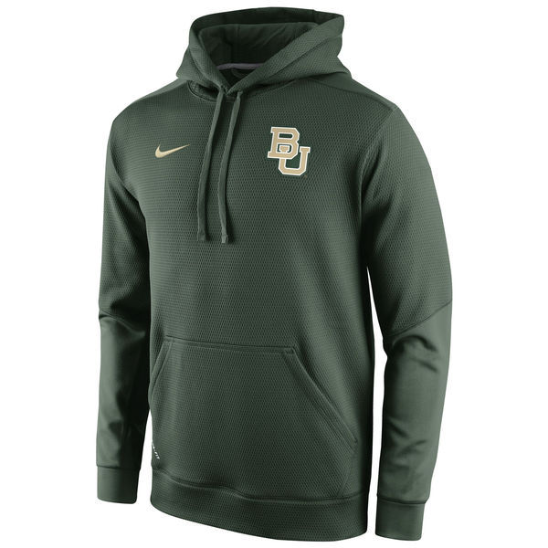 NCAA Baylor Bears Nike Sideline KO Chain Fleece Therma-FIT Hoodie green