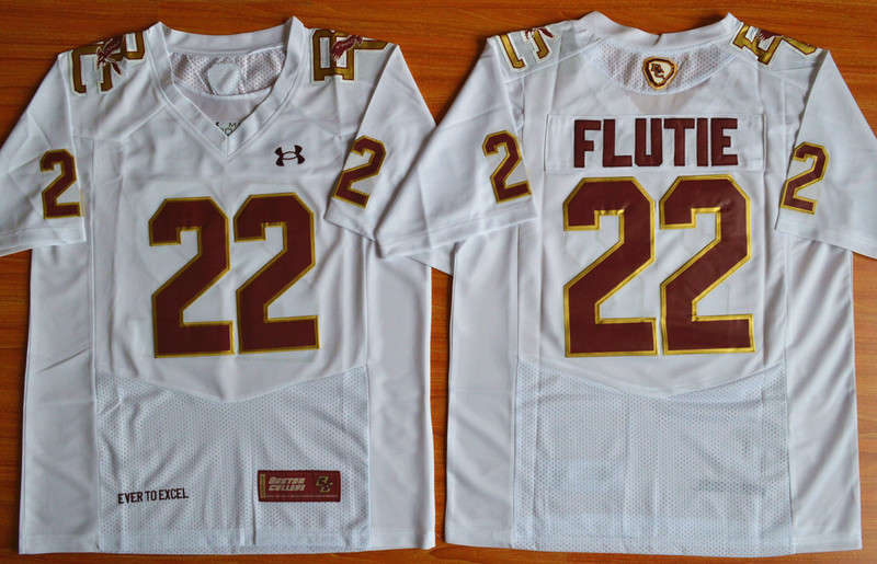 NCAA Boston College Eagles Doug Flutie 22 Fenway Event White Performance Jersey