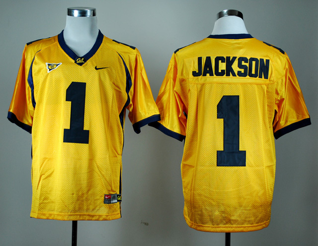 NCAA California Golden Bears 1 DeSean Jackson Golden Nike College Football Jersey