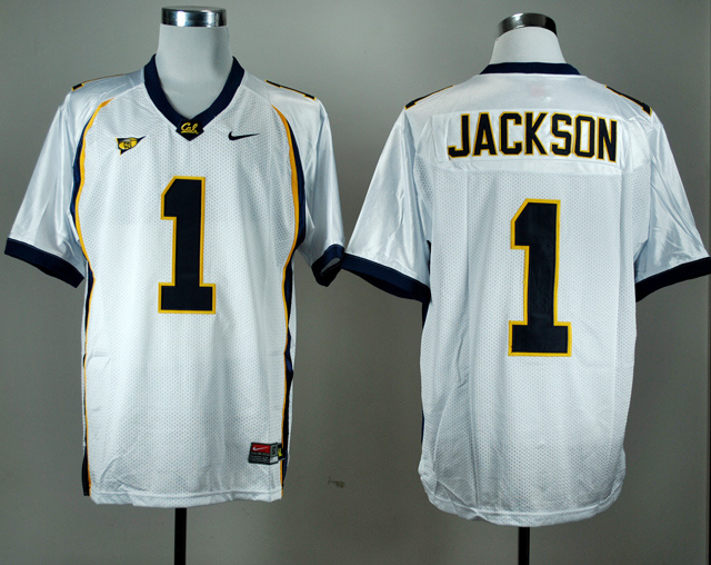 NCAA California Golden Bears 1 DeSean Jackson White Nike College Football Jersey