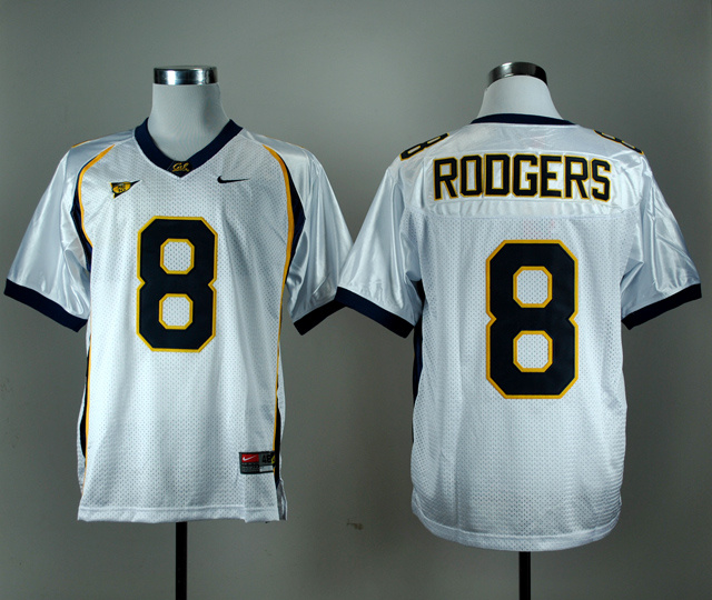 NCAA California Golden Bears 8 Aaron Rodgers White Nike College Football Jersey