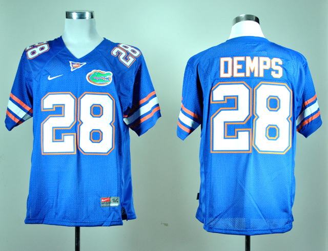 NCAA Florida Gators 28 Jeff Demps Royal Blue Nike College Football Jersey