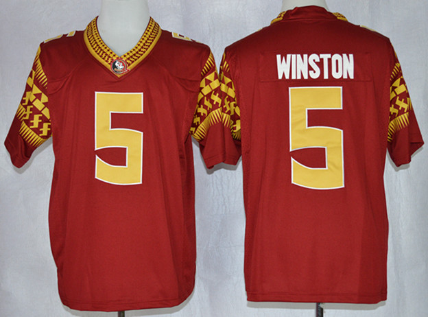 NCAA Florida State Seminoles 5 Jameis Winston Maroon Limit Football Jerseys