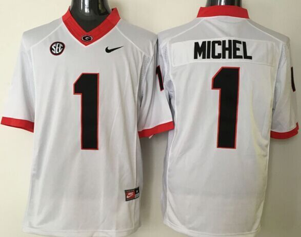 NCAA Georgia Bulldogs 1 Michel White jerseys