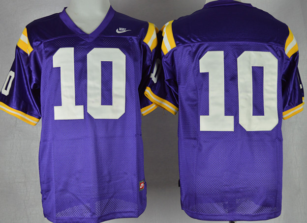 NCAA LSU Tigers 10 Anthony Jennings Purple College Football Jersey