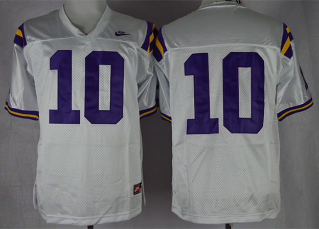 NCAA LSU Tigers 10 Anthony Jennings White College Football Jersey