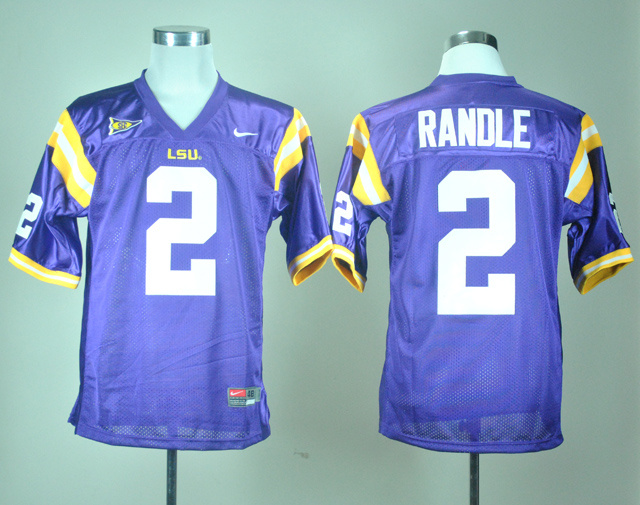 NCAA LSU Tigers 2 Rueben Randle Purple Nike College Football Jersey