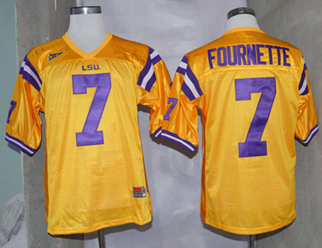 NCAA LSU Tigers 7 Leonard Fournette Gold Nike College Football Jerseys