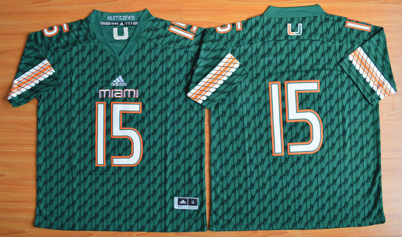 NCAA Miami Hurricanes 15 Brad Kaaya Green Football Jerseys
