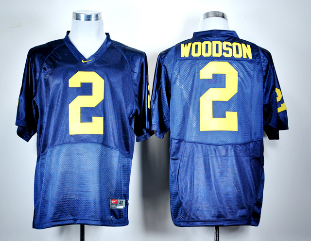 NCAA Michigan Wolverines 2 Charles Woodson Navy Blue Nike College Football Jersey