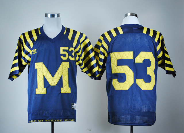 NCAA Michigan Wolverines 53 Navy Blue Under The Lights College Football Jersey