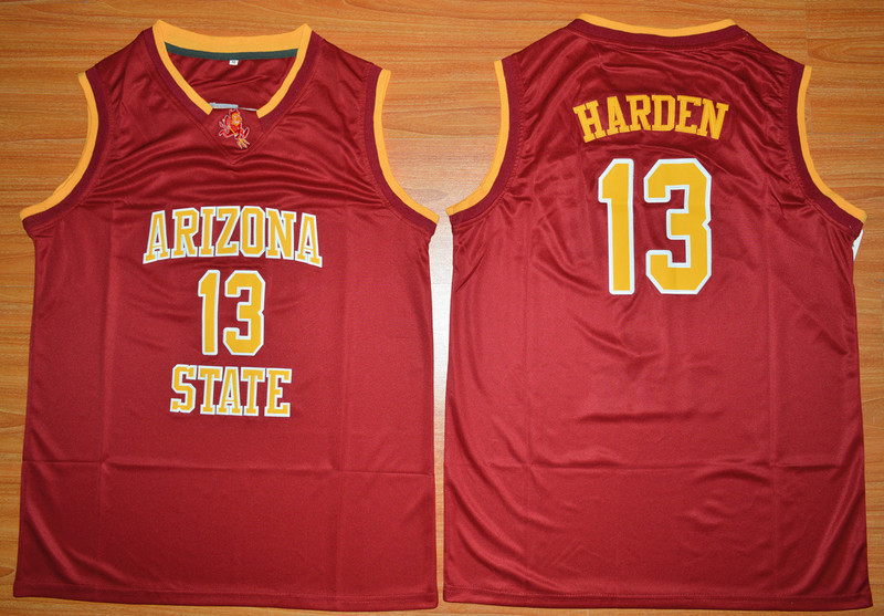 NCAA NBA Arizona State Sun Devils 13 James Harden Red College Basketball Jersey