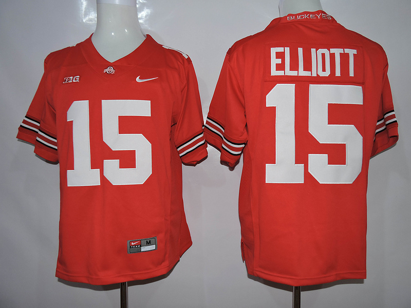 NCAA Ohio State Buckeyes 15 Elliott Red 2015 Jerseys.