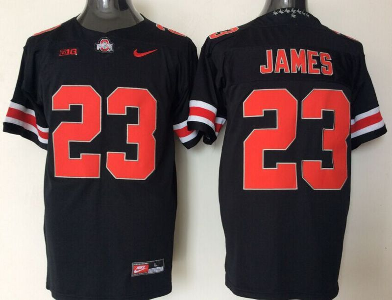 NCAA Ohio State Buckeyes 23 James black jerseys