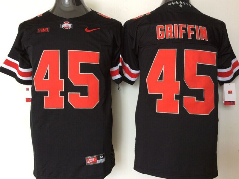 NCAA Ohio State Buckeyes 45 Griffin black jerseys