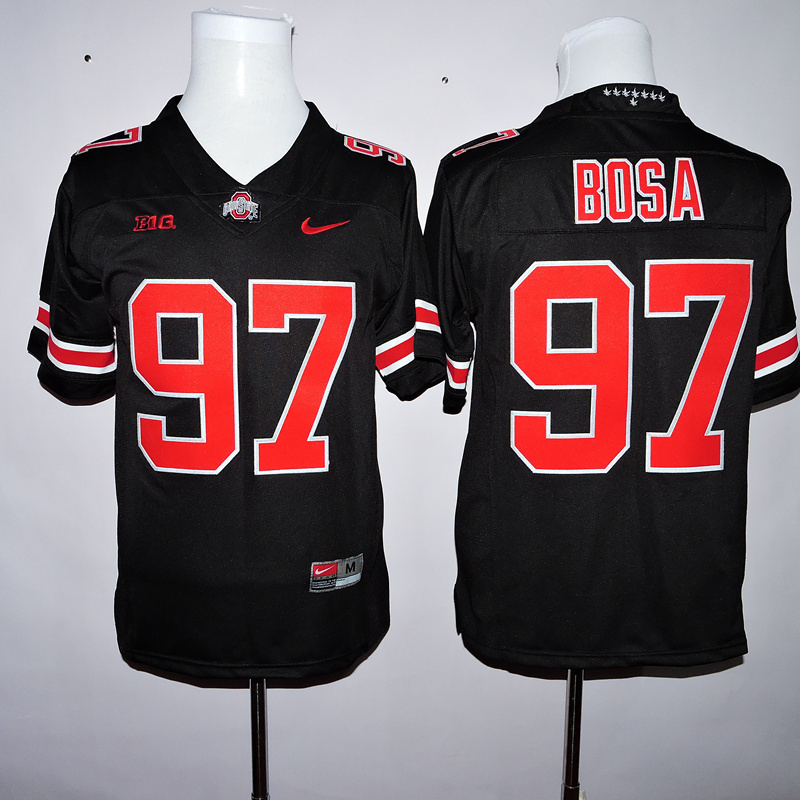 NCAA Ohio State Buckeyes 97 Bosa Black 2015 Jerseys