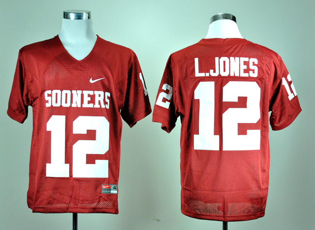 NCAA Oklahoma Sooners 12 Landy Jones Red Nike College Football Jersey