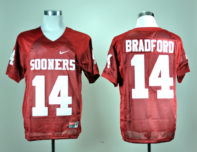 NCAA Oklahoma Sooners 14 Sam Bradford Red Nike College Football Jersey