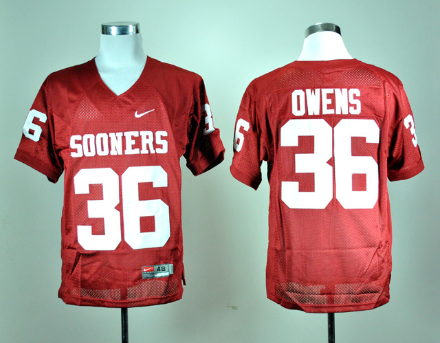 NCAA Oklahoma Sooners 36 Steve Owens Red Nike College Football Jersey