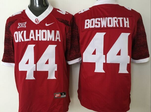 NCAA Oklahoma Sooners 44 Bosworth red jerseys