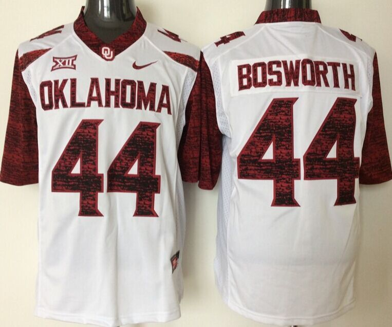 NCAA Oklahoma Sooners 44 Bosworth white jerseys