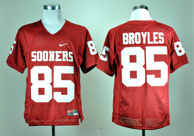 NCAA Oklahoma Sooners 85 Ryan Bryoles Red Nike College Football Jersey