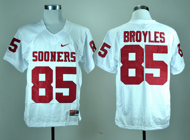 NCAA Oklahoma Sooners 85 Ryan Bryoles White Nike College Football Jersey