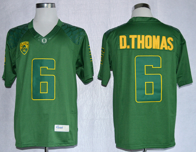 NCAA Oregon Duck 6 De'Anthony Thomas Green College Football Limited Jerseys