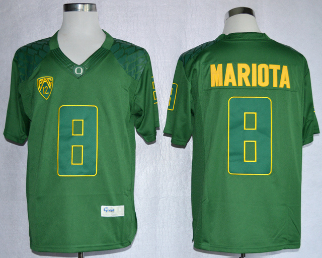 NCAA Oregon Duck 8 Marcus Mariota Green College Football Limited Jerseys