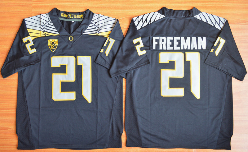 NCAA Oregon Ducks 21 Royce Freeman Black Football Limited Jersey.