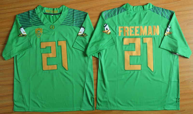 NCAA Oregon Ducks 21 Royce Freeman Green Football Limited Jersey.