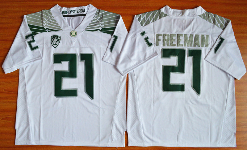 NCAA Oregon Ducks 21 Royce Freeman White Football Limited Jersey