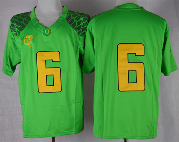 NCAA Oregon Ducks 6 Charles Nelson Apple Green Limit Football Jersey