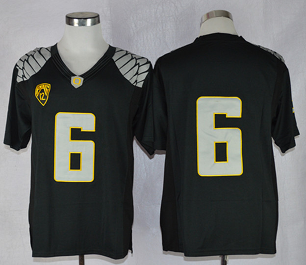 NCAA Oregon Ducks 6 Charles Nelson Black Limit Football Jersey