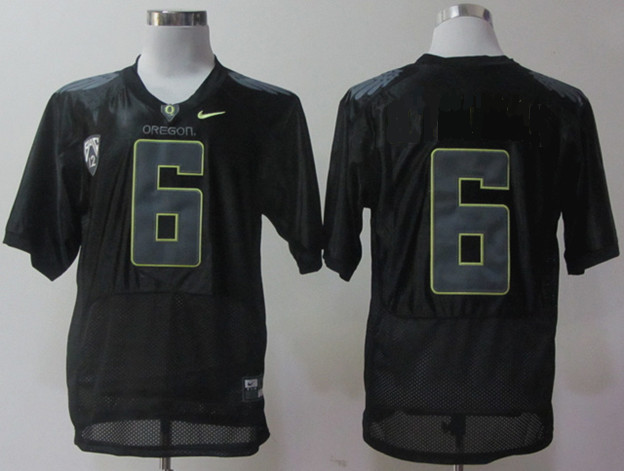 NCAA Oregon Ducks 6 Charles Nelson Black Pro Combat NCAA Football Jersey