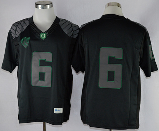 NCAA Oregon Ducks 6 Charles Nelson Blackout Limit Football Jersey