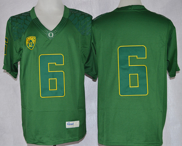 NCAA Oregon Ducks 6 Charles Nelson Green Limit Football Jersey